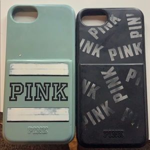 2 Victoria secret I phone cases with card holder